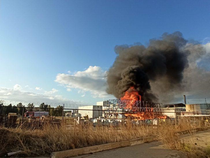 Ayvalık'ta yağ fabrikasında korkutan yangın