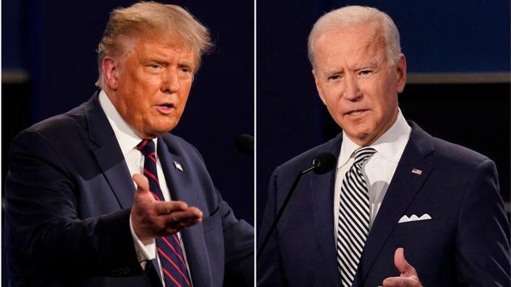 Trump ve Biden'dan Rakip Ekranlarda Eş Zamanlı Oturum