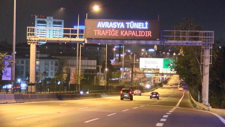 Avrasya Tüneli bakım ve onarım çalışmalarının ardından yeniden trafiğe açıldı