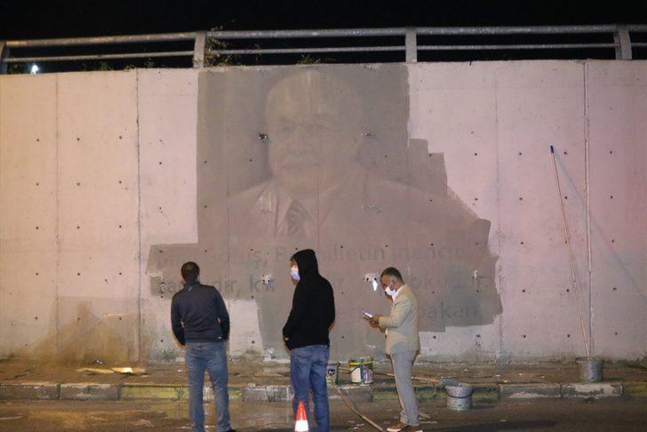 Bolu'da alt geçitteki resimlerin boyayla kapatılması için başlatılan çalışmalar tepkiler üzerine durduruldu