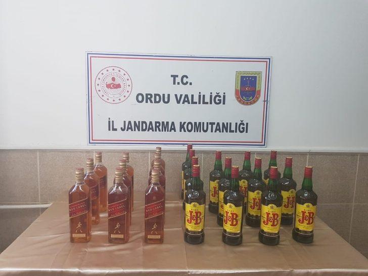 Ordu'da kaçak içki ve uyuşturucu madde ele geçirildi