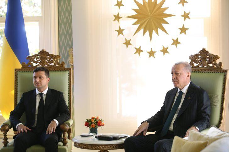 Cumhurbaşkanı Erdoğan, Ukrayna Devlet Başkanı Zelenski ile görüştü