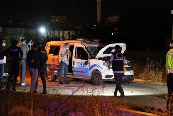 Uşak'ta feci kaza! 2 polis memuru hastaneye kaldırıldı