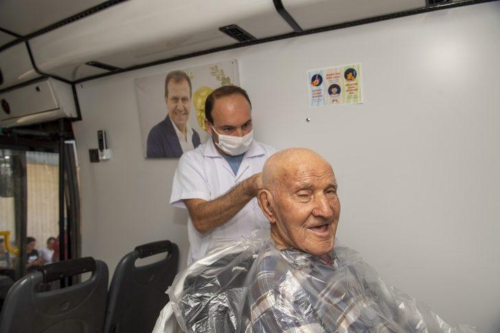 Mersin'de  'mobil kuaför' hizmeti: Yar saçların lüle lüle