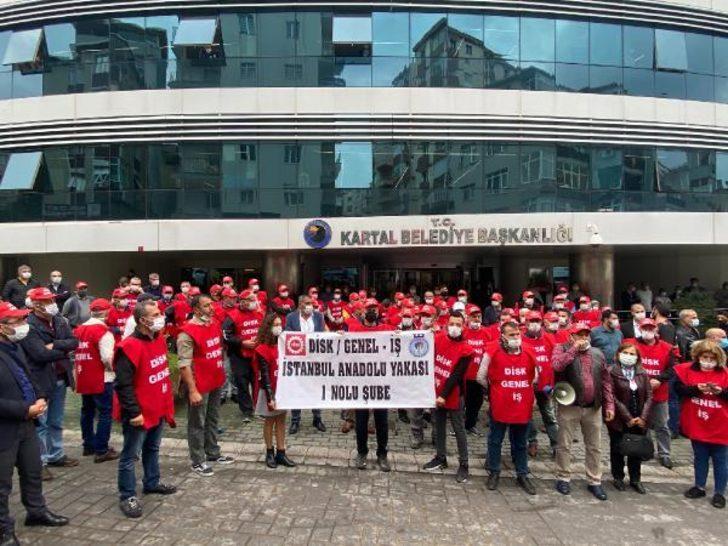 Kartal Belediyesi'nde işçilerden grev kararı