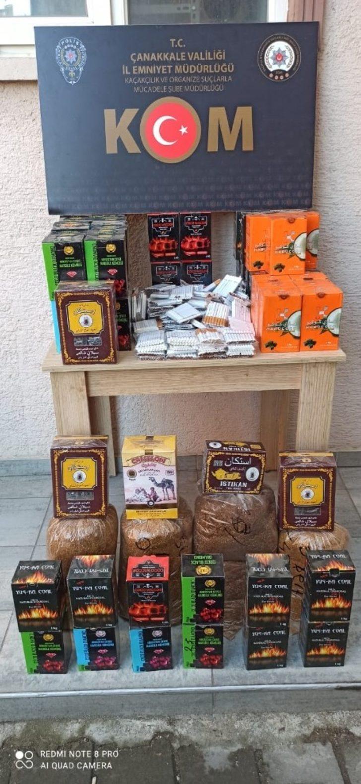 Lapseki'de kaçak tütün denetimleri