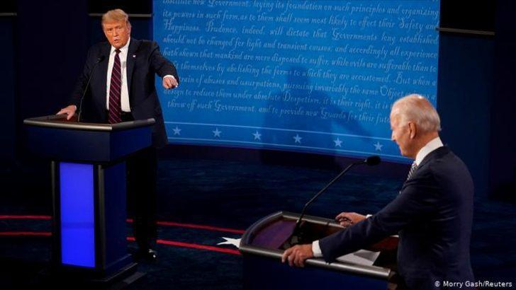 Televizyon düellosunda Trump ile Biden'ın mikrofonları kapatılacak