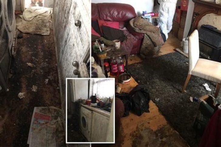 Pislik içindeki evi altı kişilik temizleme ekibi 50 saatte temizledi