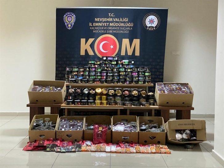 Nevşehir'de 134 kilogram nargile tütünü ele geçirildi