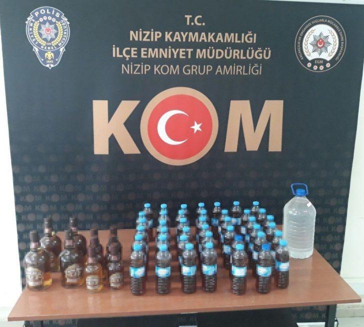 Sahte alkol üretenlere operasyon: 2 gözaltı