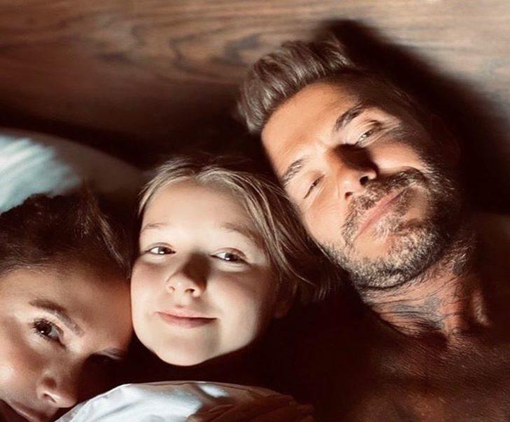 David Beckham küçük kızını dudağında öptü sosyal medya yıkıldı