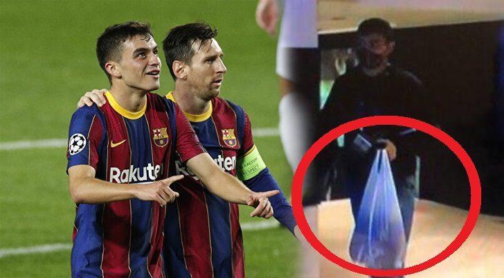 Barcelona'nın oyuncusu Pedri, maça naylon poşetle geldi! Bu fotoğraf gündem oldu!
