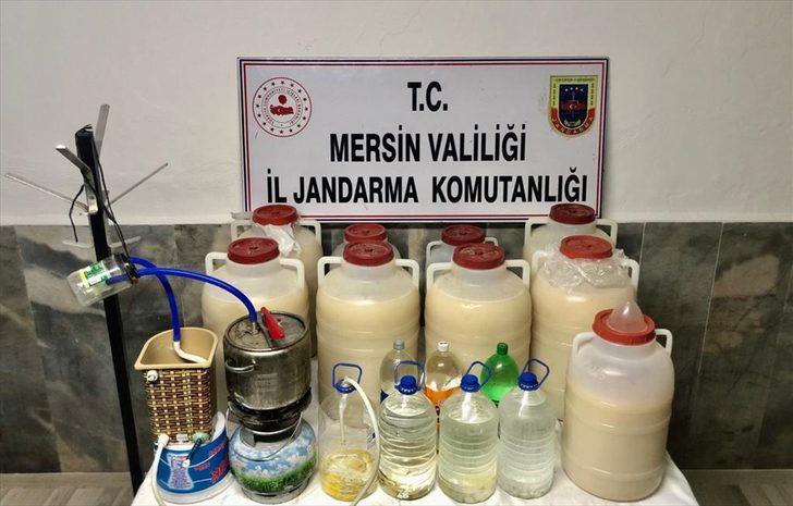 Mersin'de 283 litre sahte içki ele geçirildi