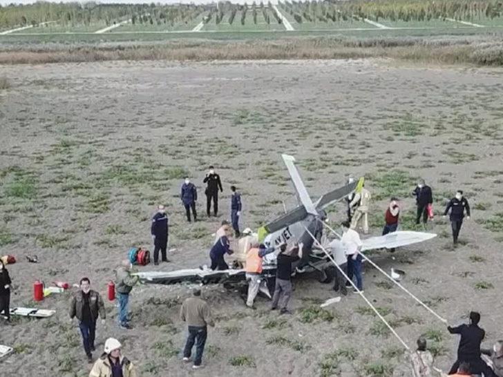 İstanbul'da düşen eğitim uçağının pilotu hayatını kaybetti