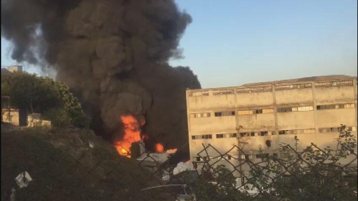 Başakşehir'de korkutan yangın