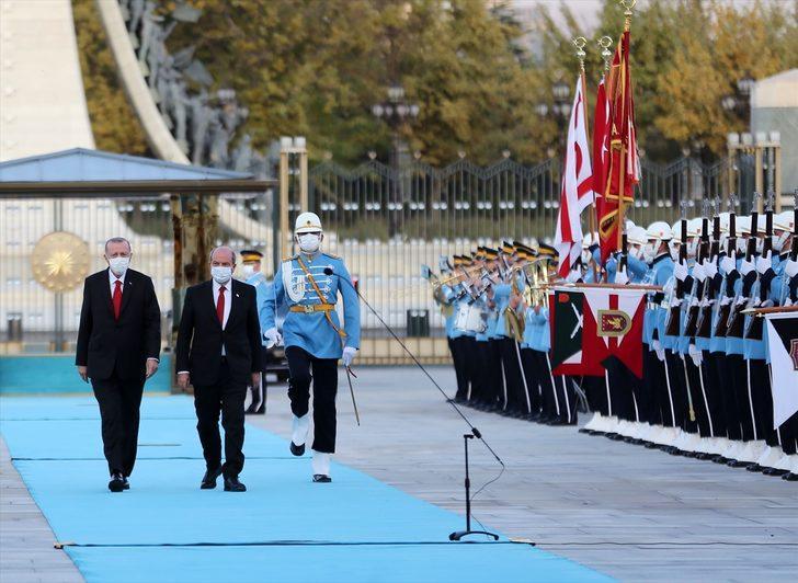 Cumhurbaşkanı Erdoğan, KKTC Cumhurbaşkanı Tatar'la görüştü