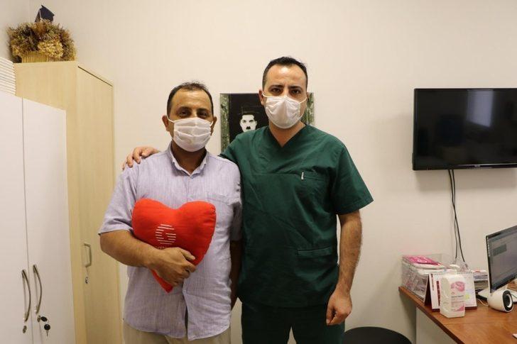 Aort damarı yırtılan itfaiyeci hayata tutundu