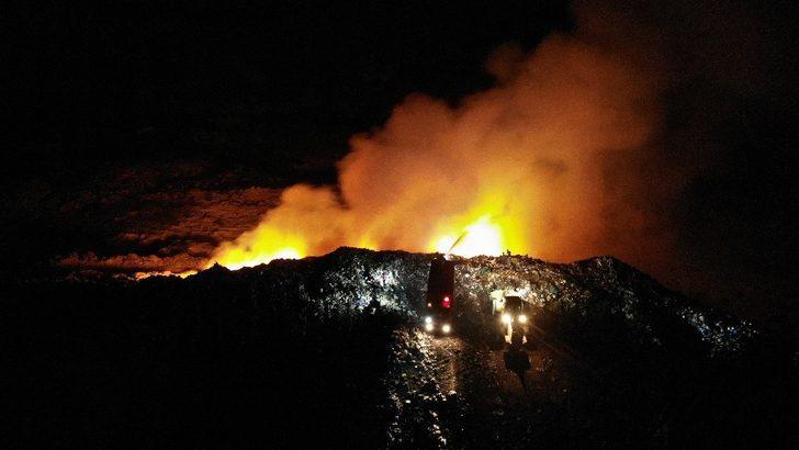 Karabük'te şehir çöplüğünde korkutan yangın