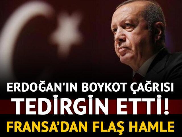 Erdoğan'ın boykot çağrısı tedirgin etti! Fransa'dan flaş hamle
