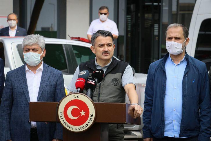 """Tarım ve Orman Bakanı Pakdemirli: """"Hatay'daki orman yangını kontrol altına alındı"""""""