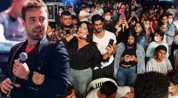 Murat Dalkılıç konserinde tepki çeken görüntü