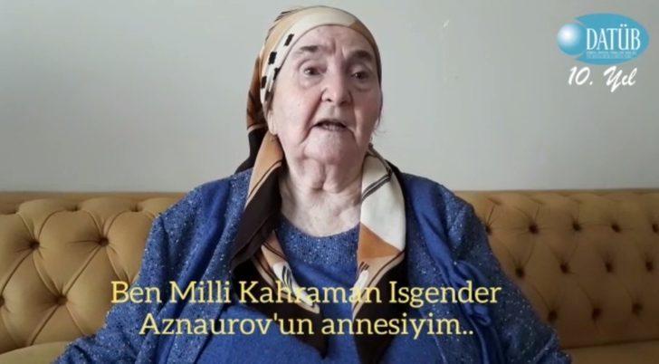 """Şehit annesi Mustafayeva : """"Düşmanları topraklarımızdan reddetmemiz gerek"""""""