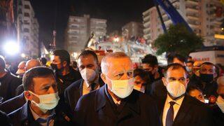 Erdoğan depremin yaşandığı bölgede