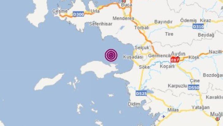 İzmir Kuşadası Körfezi'nde 4.2 büyüklüğünde deprem