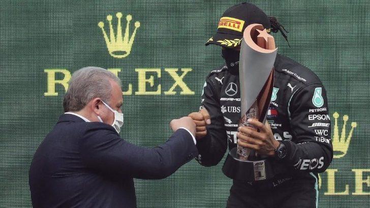 TBMM Başkanı Mustafa Şentop'tan Lewis Hamilton'a imalı kutlama...