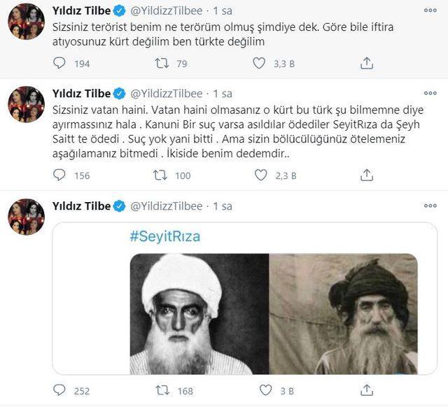 Yıldız Tilbe Şeyh Sait ve Seyit Rıza'yı paylaşınca... 'Sizsiniz vatan haini'