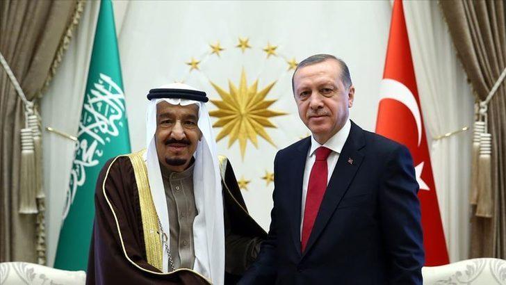 Cumhurbaşkanı Erdoğan, Suudi Arabistan Kralı Selman ile görüştü