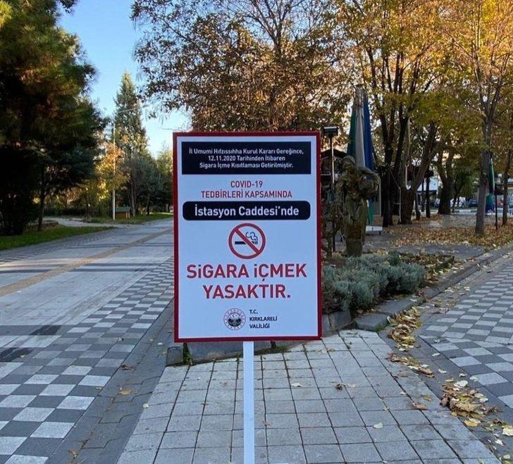 Sigara içmenin yasak olduğu alanlara uyarı tabelası konuldu