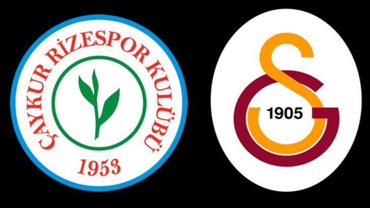 Rizespor - Galatasaray maçı ne zaman, hangi kanalda, saat kaçta? Rizespor - Galatasaray muhtemel 11'ler