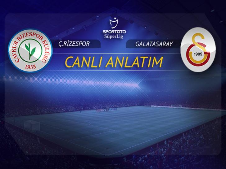 CANLI | Çaykur Rizespor - Galatasaray