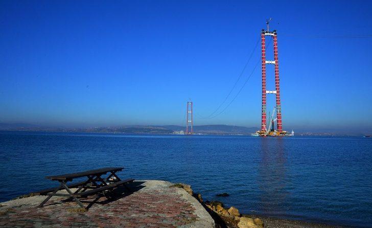 1915 Çanakkale Köprüsü'nün ayaklarının yüksekliği Eyfel Kulesi'ni geçti
