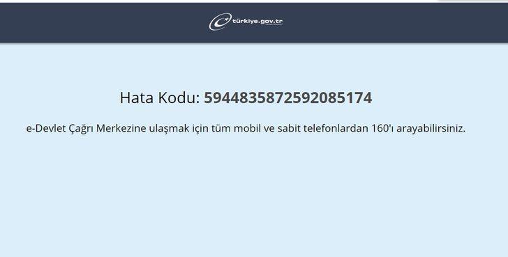 e- Devlet girişi... e- Devlet çöktü mü?  e- Devlet'e nasıl giriş yapılır? e- Devlet Kapısı resmi internet sitesi hata veriyor!