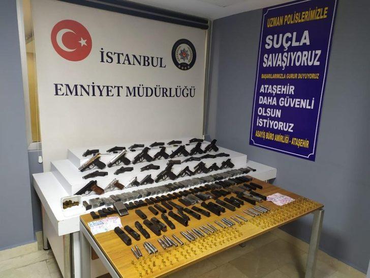 Ataşehir'de silah imalathanesine çevrilen depoya polis baskını