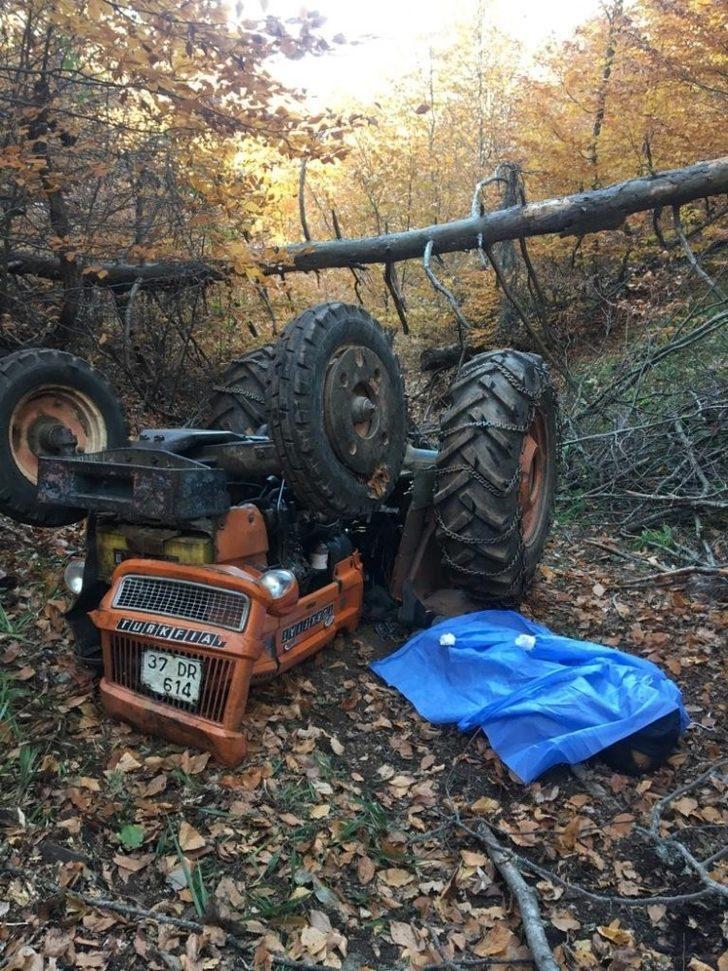 Odun taşıdığı sırada devrilen traktörün altında kalarak hayatını kaybetti