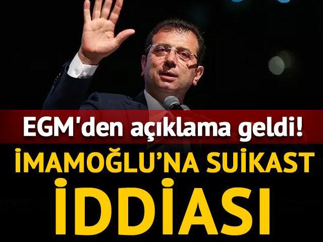 Ekrem İmamoğlu'na suikast iddiası!