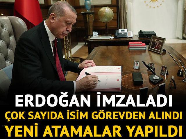 Erdoğan imzaladı: Çok sayıda ismin ataması yapıldı