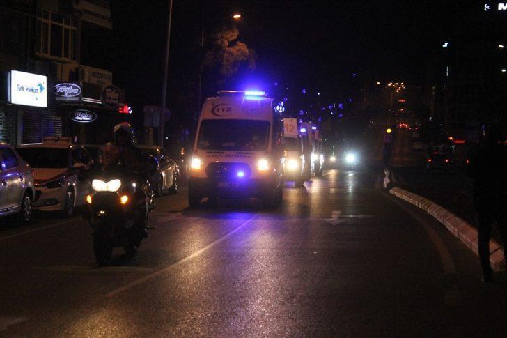 Aydın'da, sirenler 112 sağlık çalışanları için çaldı