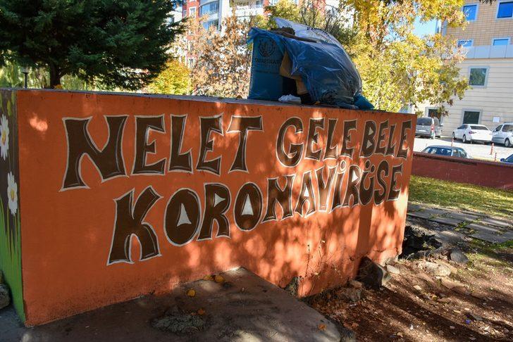 Diyarbakır'da koronavirüse karşı şiveli duvar yazıları dikkati çekiyor