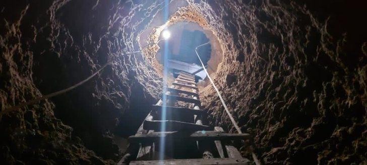 Gümüşhane'de film sahnesi gerçek oldu! Evin altında 12 metre tünel kazıp, define ararken yakalandılar