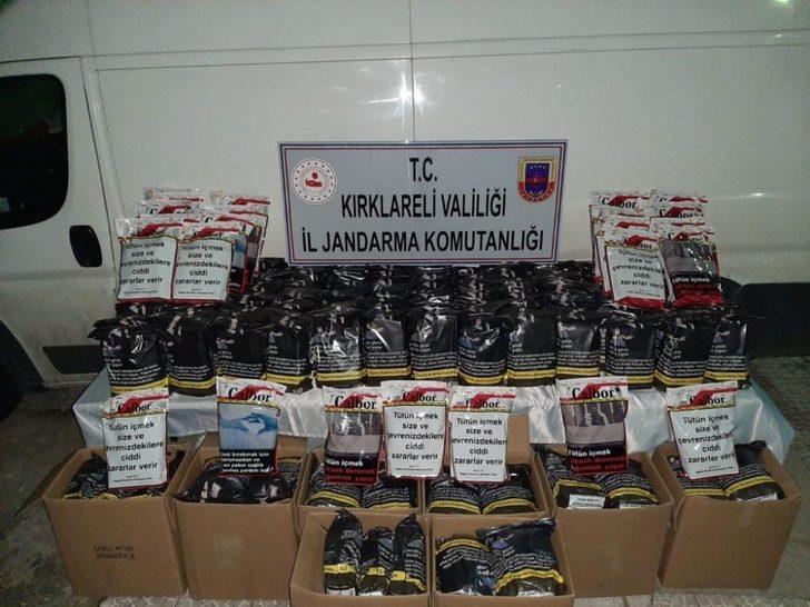 Kırklareli'de 730 kilogram kaçak tütün ele geçirildi