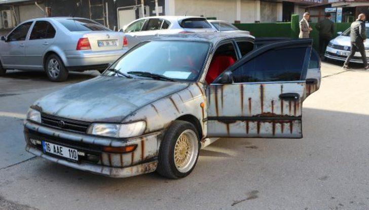 Tokat'ta sıra dışı modifiye otomobil ilgi çekiyor