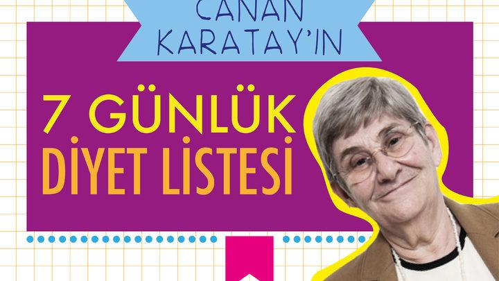 Canan Karatay In 7 Gunluk Diyet Listesi