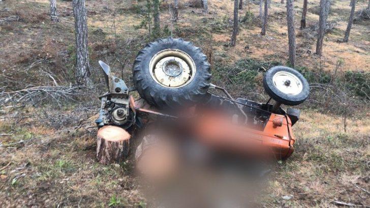 Kastamonu'da tomruk yüklü traktör devrildi: 1 ölü