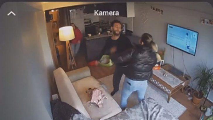 Genç kadın erkek arkadaşı tarafından darp edildi, o anlar kameraya yansıdı