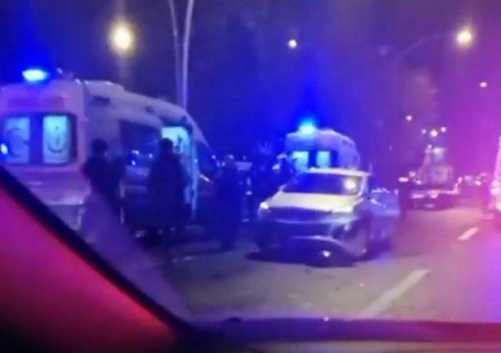 Trafikte makas atan maganda 3 ayrı kazaya sebep oldu