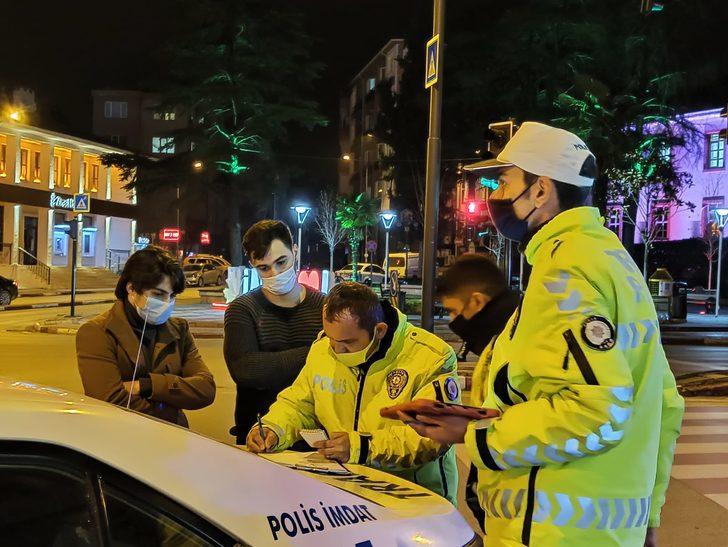 Bursa'da 'işten dönüyoruz' dediler, cezadan kurtulamadılar